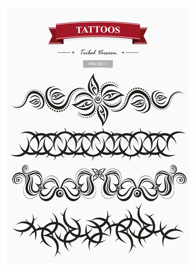 Plemienni tatuaże ustawiają 1 fotografia royalty free