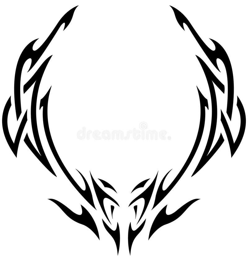Download Plemienny ilustracja wektor. Obraz złożonej z ornament - 7419350