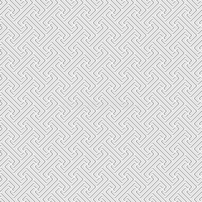 Plemienny Bali wzór - wektorowa bezszwowa tekstura ilustracja wektor