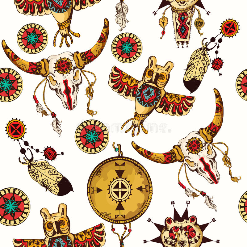 Plemienny bezszwowy tło royalty ilustracja
