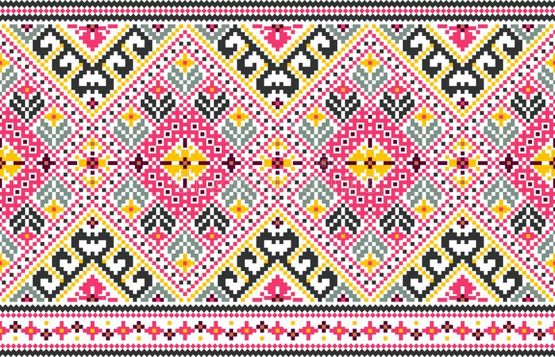 Plemienny bezszwowy wzór, etniczna stylowa wektorowa ilustracja royalty ilustracja