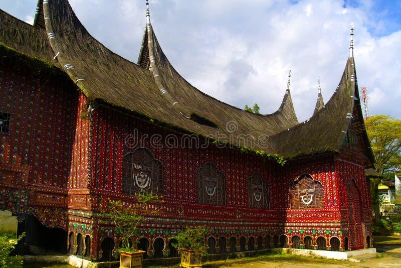 Plemienny drewno rze?bi?, dekoracja tradycyjny dom obraz stock