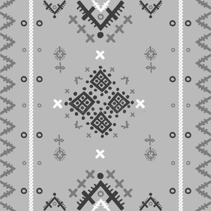 Plemienny etniczny bezszwowy wzór w geometrycznym stylu ilustracji