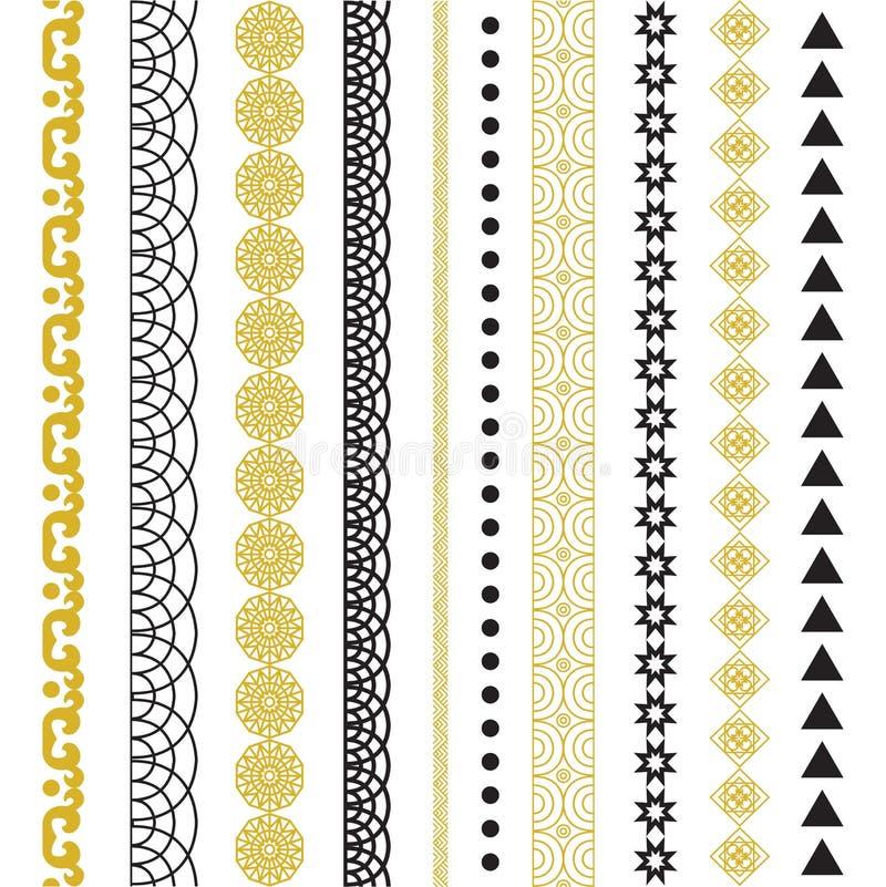 Plemienny geometryczny wzór Azteka i Navajo ornament ilustracja wektor
