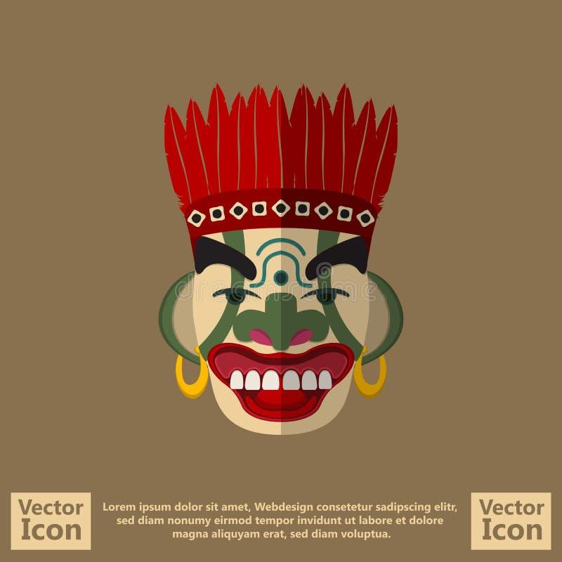 Plemienny maskowy symbol ilustracja wektor