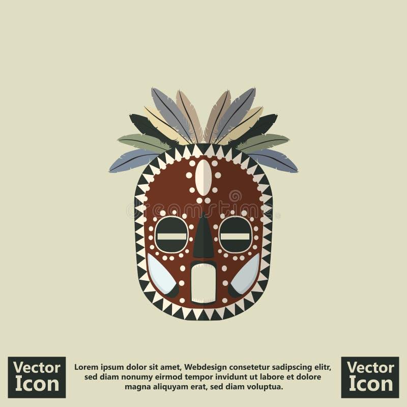 Plemienny maskowy symbol ilustracji
