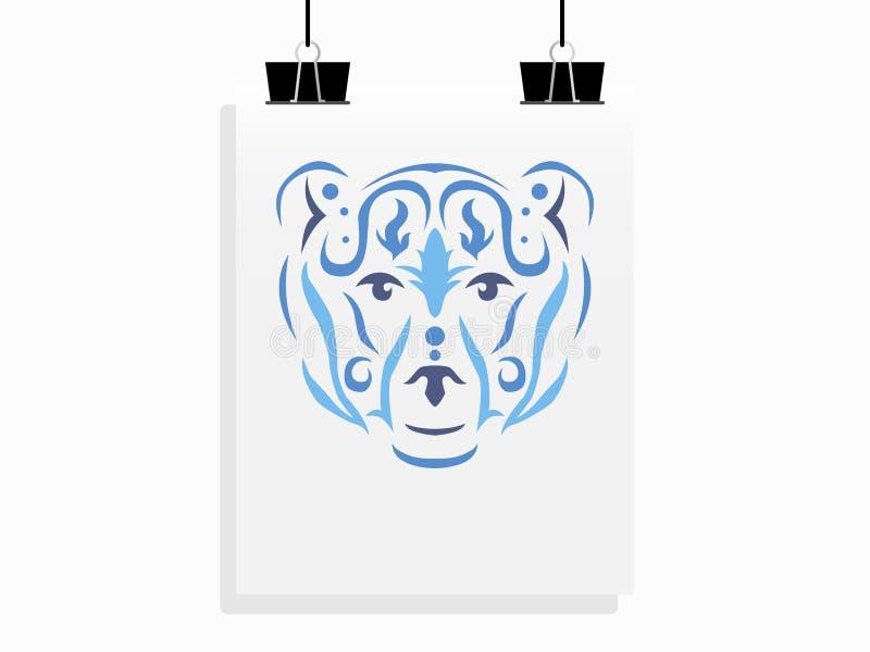 Plemienny niedźwiadkowy plakatowy mockup