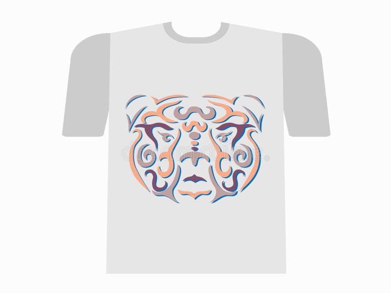Plemienny niedźwiadkowy tshirt mockup