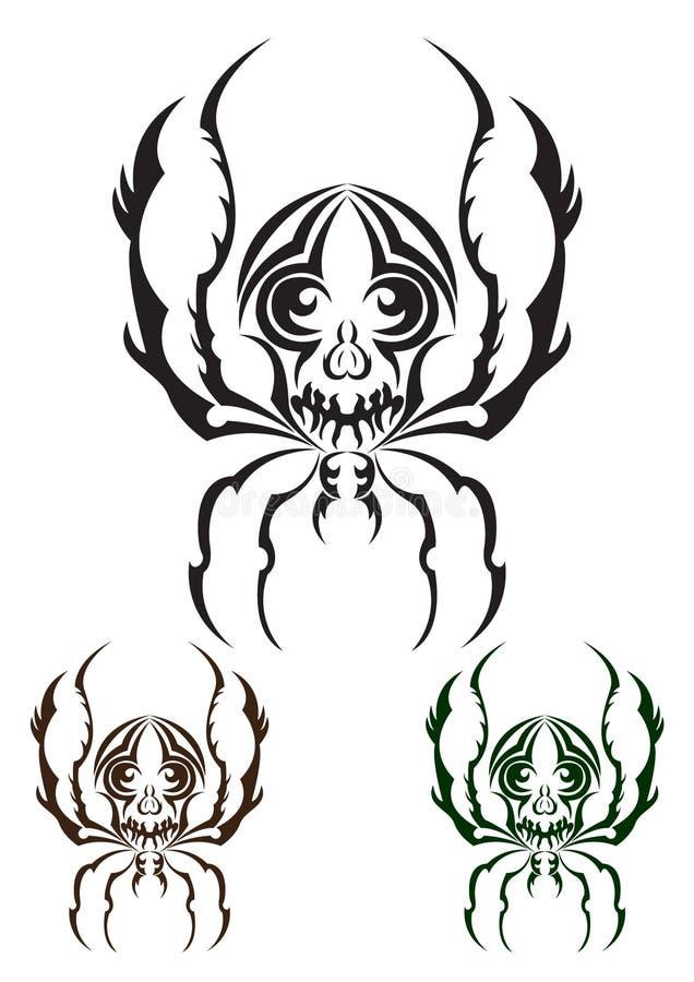 Plemienny pająk royalty ilustracja