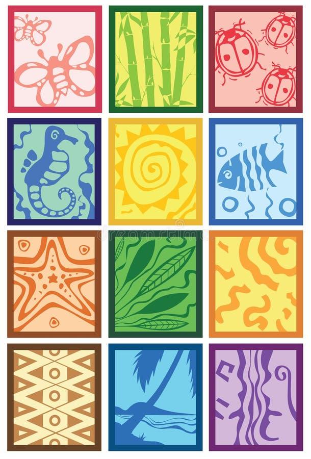 Plemienny projekt ilustracja wektor