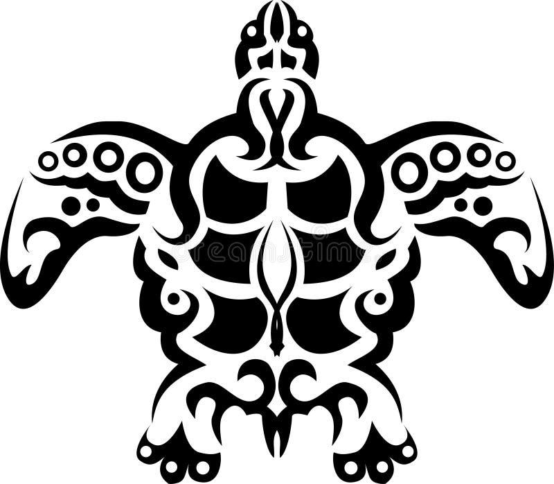 plemienny tatuażu żółw ilustracja wektor