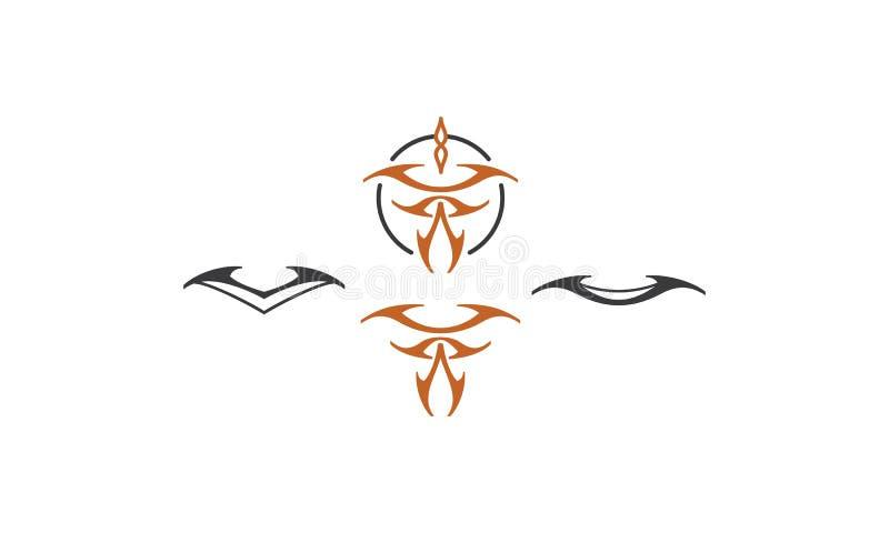 Plemienny tatuażu loga ikony wektor royalty ilustracja