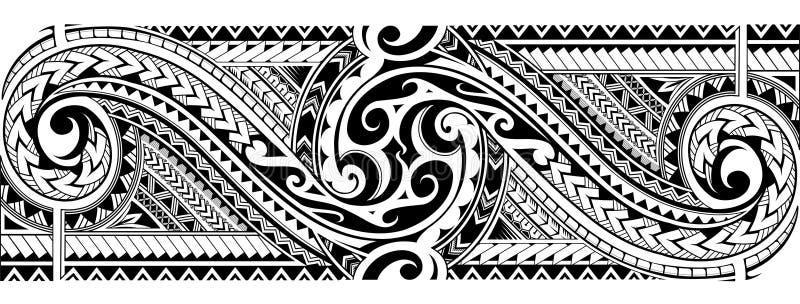 Plemienny tatuażu rękaw ilustracji