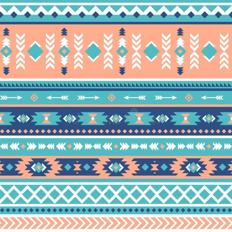 Plemienny wektorowy bezszwowy wzór Aztek geometryczny ilustracji