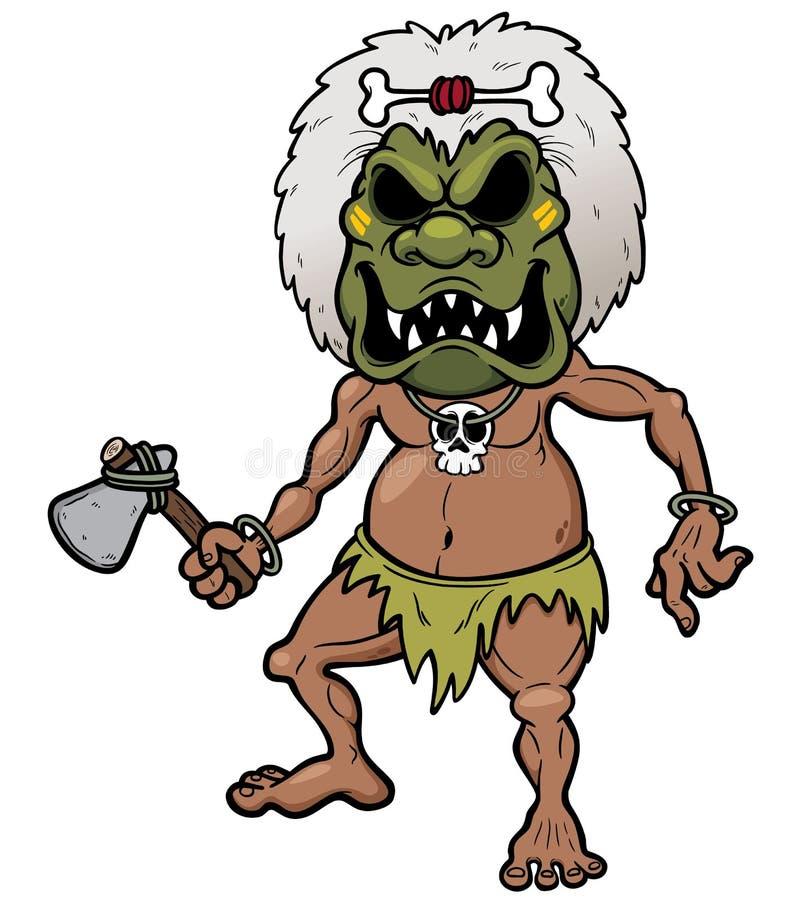 Plemienny wojownik ilustracji