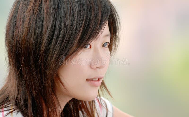 plenerowa azjatykcia piękna dziewczyna fotografia stock