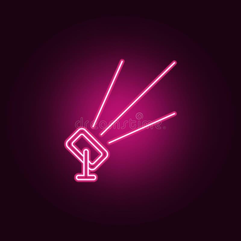 plenerowa floodlight ikona Elementy światło reflektorów w neonowych stylowych ikonach Prosta ikona dla stron internetowych, sieć  ilustracji