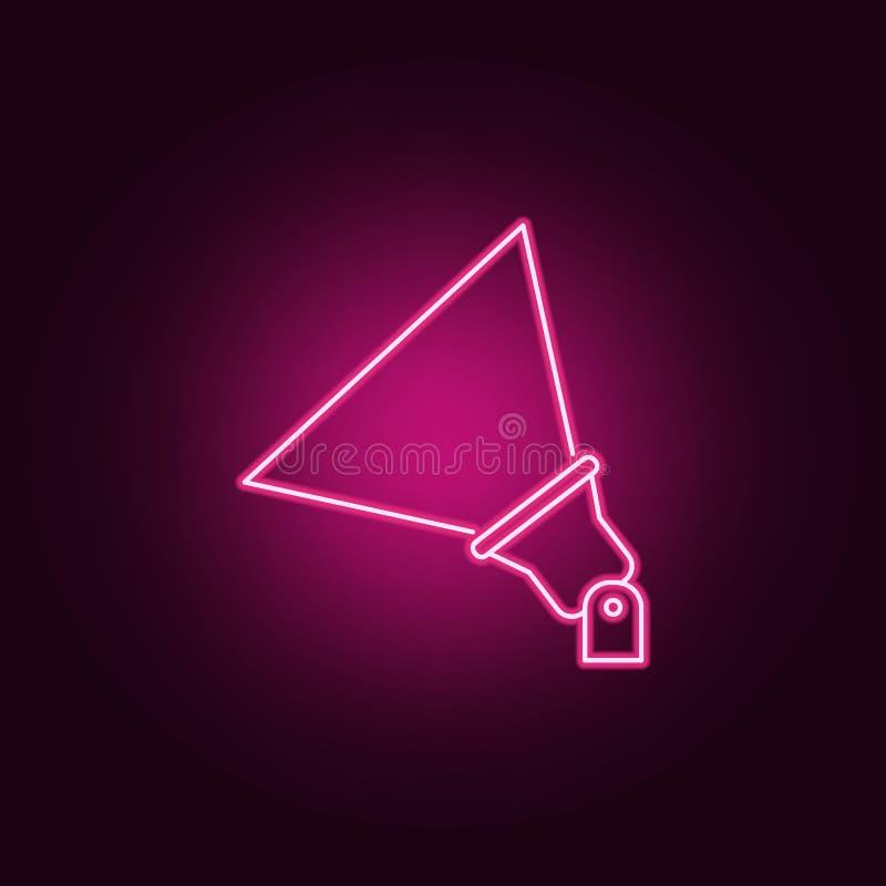 plenerowa floodlight ikona Elementy światło reflektorów w neonowych stylowych ikonach Prosta ikona dla stron internetowych, sieć  ilustracja wektor