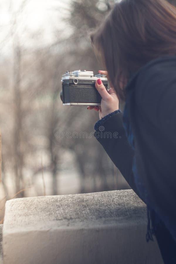 Plenerowa fotografia dziewczyna obrazy royalty free