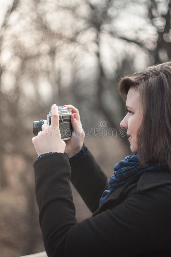 Plenerowa fotografia dziewczyna obraz stock