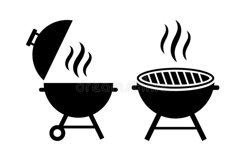 Plenerowa grilla wektoru ikona royalty ilustracja