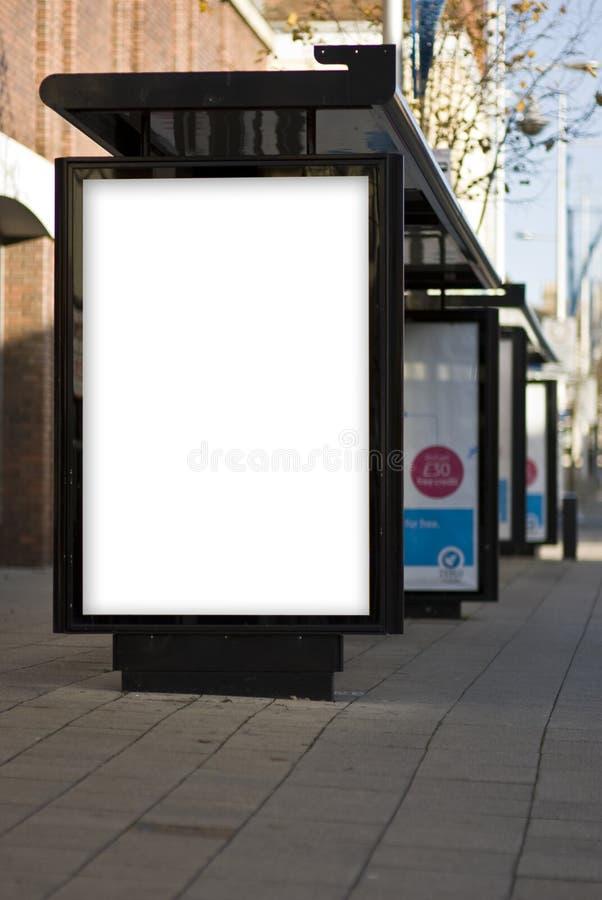 Plenerowej reklamy MockUp szablon zdjęcie royalty free