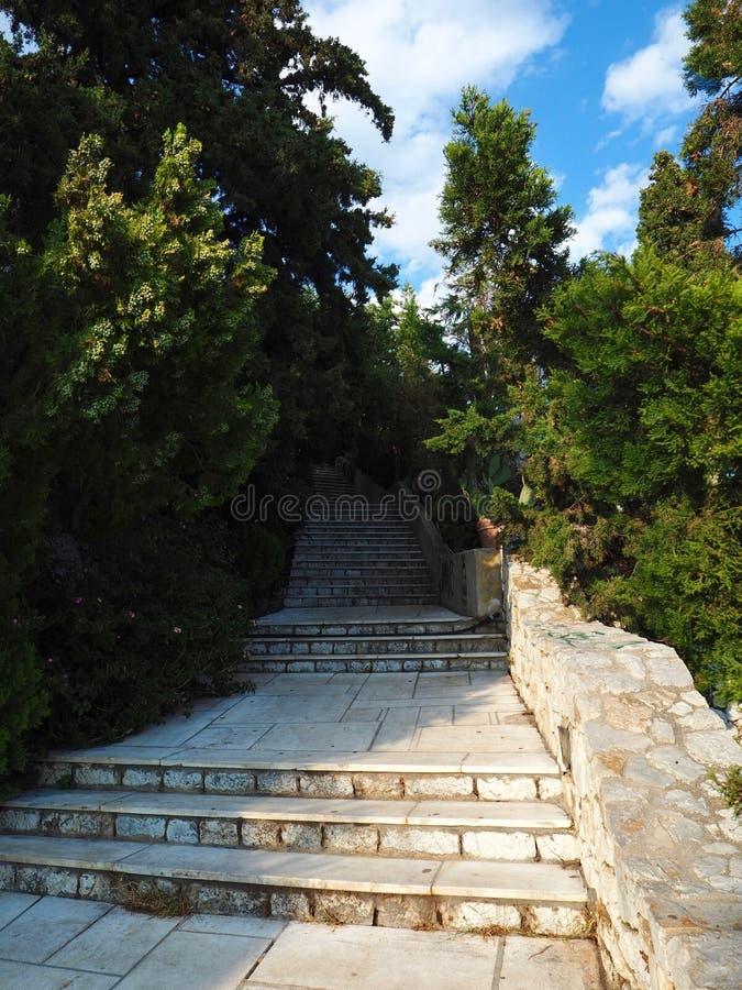 Plenerowi marmuru i kamienia kroki zdjęcie royalty free