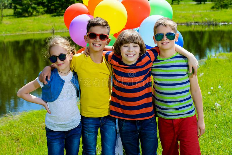 Plenerowi weekendowi dzieci fotografia stock