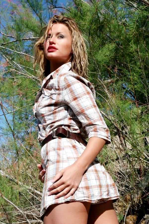 plenerowy ładny typ kobieta zdjęcia stock