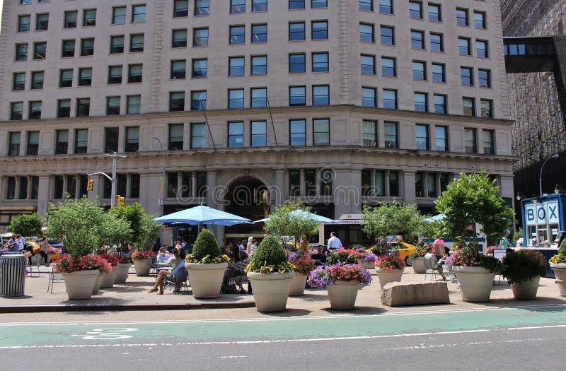 Plenerowy łomotać na Manhattan w Nowy Jork zdjęcie royalty free