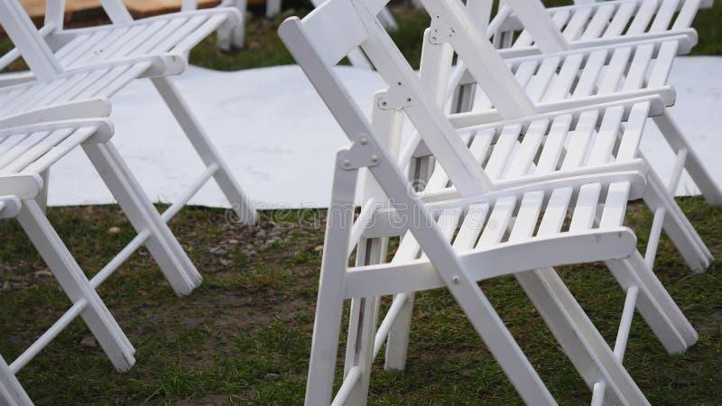 Plenerowy ślubny położenie w Waszyngtońskim viewing ołtarzu i obiadowych stołach obrazy royalty free