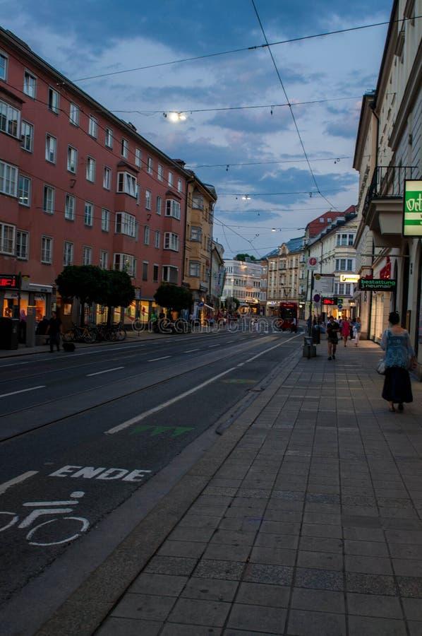 Plenerowy życie Innsbruck zdjęcia stock