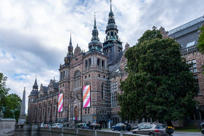 Plenerowy boczny widok sławny Północny Muzealny budynek w Sztokholm Szwecja zdjęcie stock