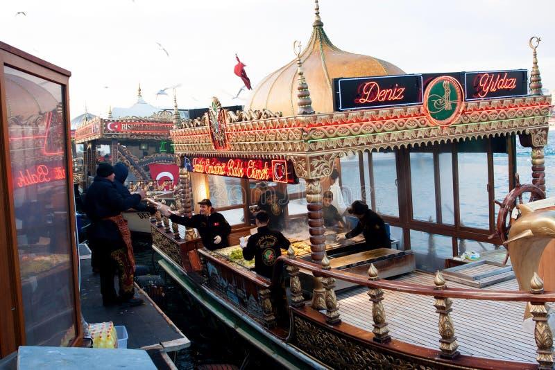 Plenerowy bufet w Istanbuł zdjęcie royalty free