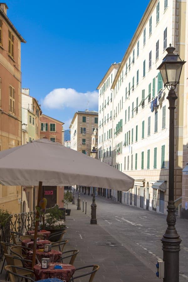 Plenerowy bufet w ulicie w Camogli fotografia royalty free