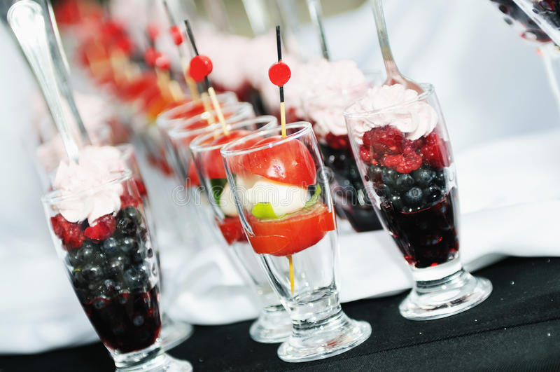 Plenerowy bufeta outdoorbuffet obrazy stock