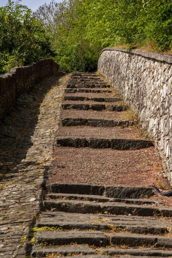 Plenerowy Ciężki schody obraz royalty free