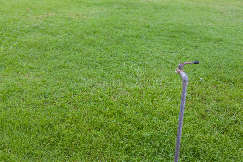 Plenerowy Faucet na trawy polu fotografia stock