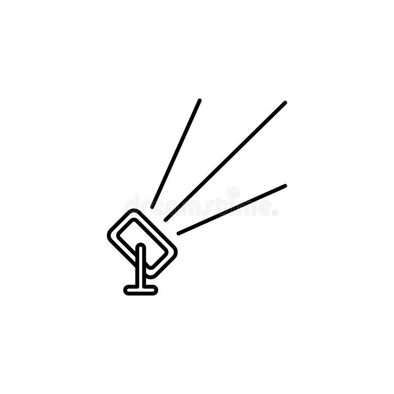 plenerowy floodlight Element akcydensowa oświetleniowa ikona dla mobilnych pojęcia i sieci apps Cienki kreskowy plenerowy floodli ilustracji