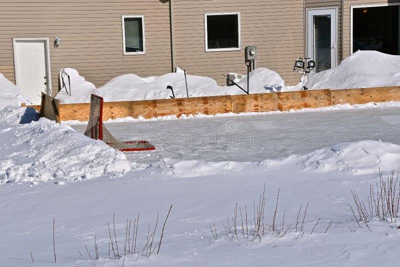 Plenerowy hokejowy lodowisko fotografia stock