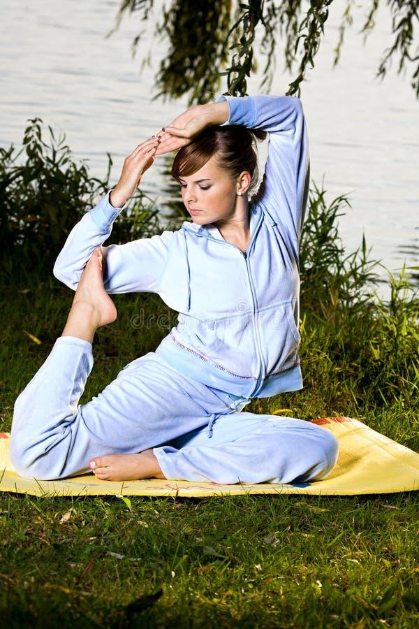 plenerowy joga zdjęcie stock