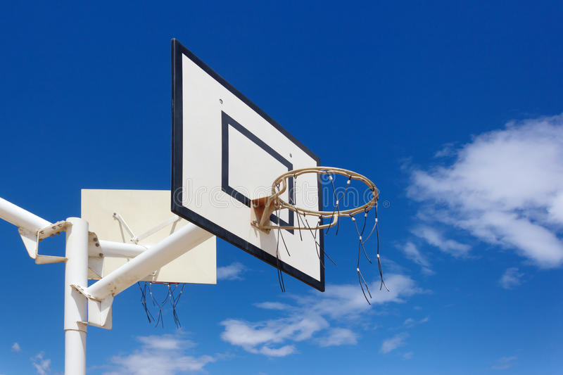 plenerowy koszykówka obręcz obrazy royalty free