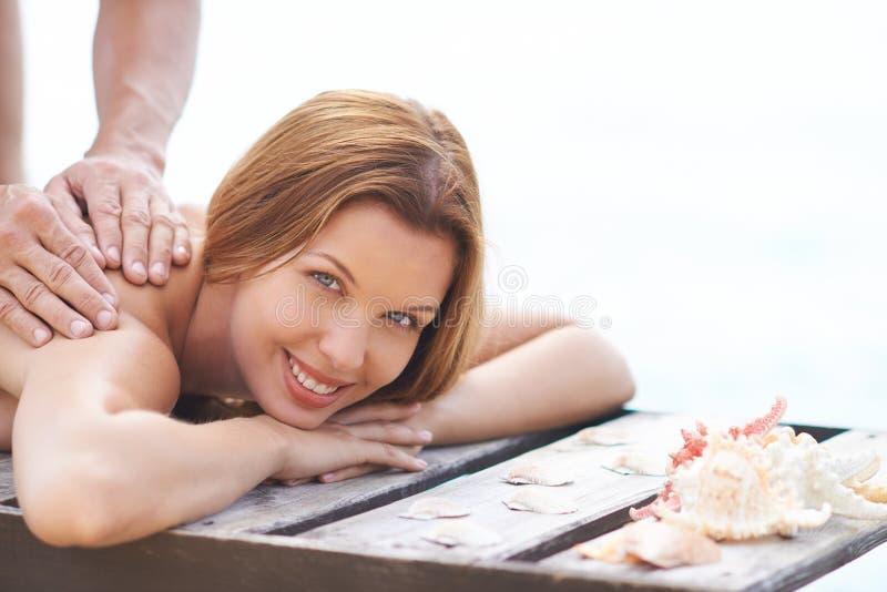 Plenerowy Masaż zdjęcia stock