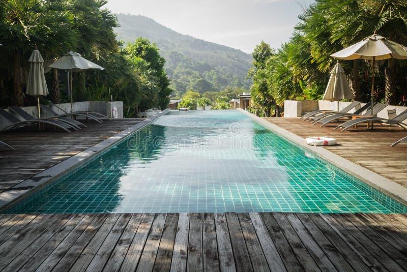 Plenerowy pływacki basen zdjęcie stock