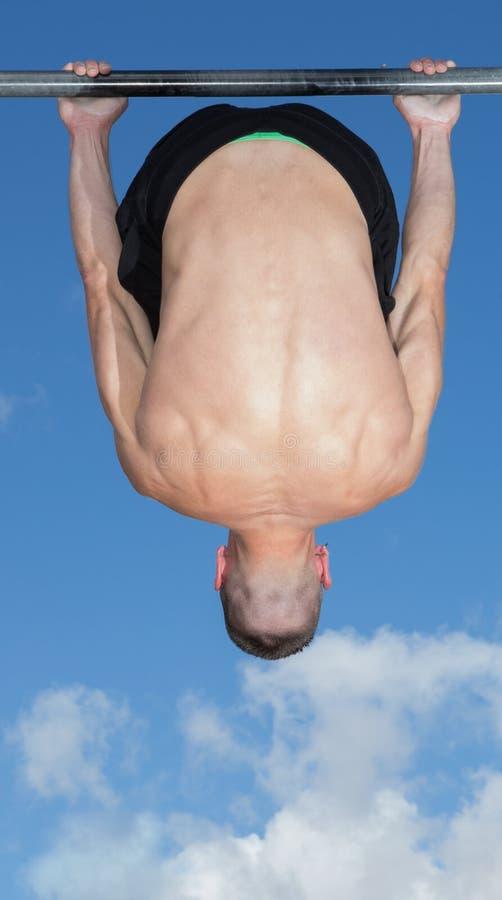 Plenerowy parka baru sprawności fizycznej trening obrazy stock