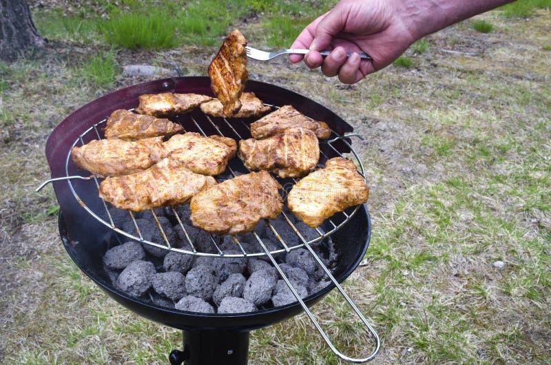 Plenerowy piec na grillu fotografia stock