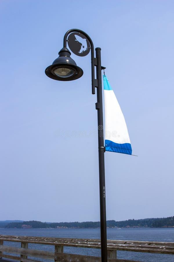 Plenerowy poczta światło przy molem zdjęcie stock