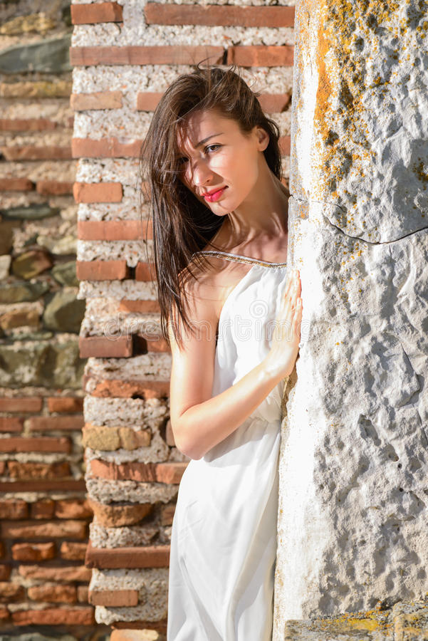 Plenerowy portret bueautiful młoda kobieta fotografia stock