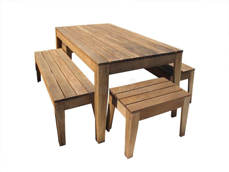 plenerowy stół zdjęcie royalty free