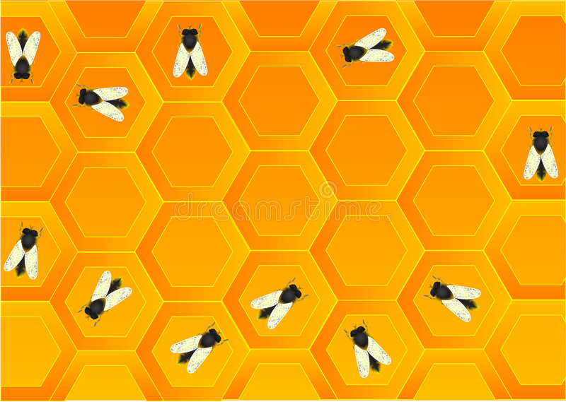 Download Plenty of bees stock vector. Image of background, insect - 2848884